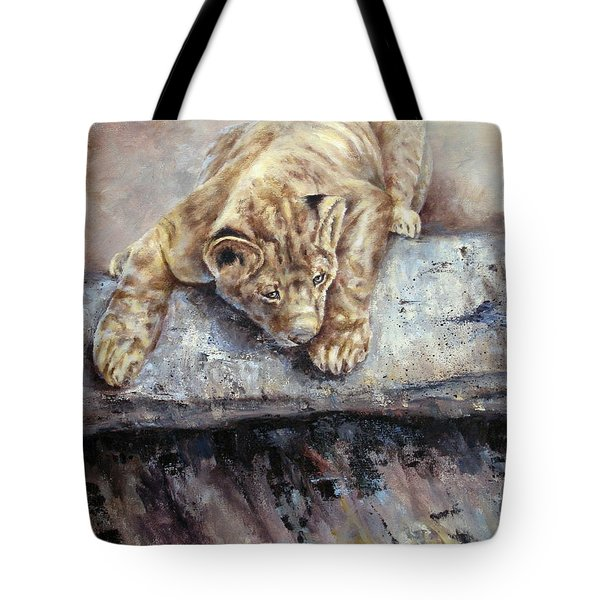 Pounce Tote Bag by Mary McCullah