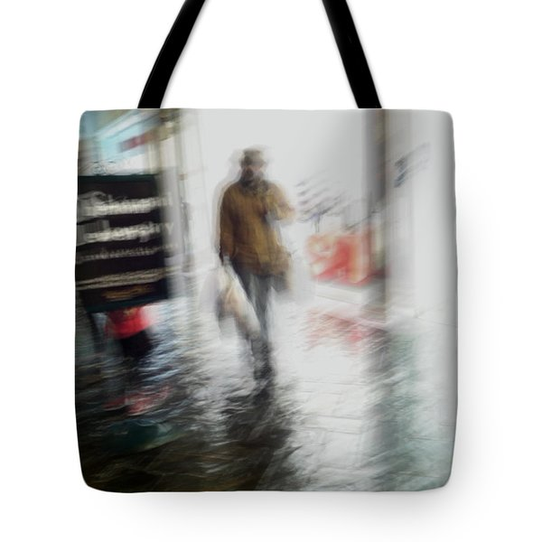 Tote Bag featuring the photograph Pounding The Pavement by Alex Lapidus