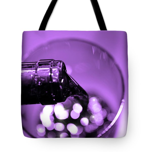 Pour Wine Tote Bag by Tommytechno Sweden