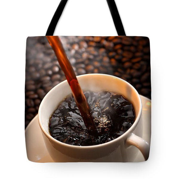 Pouring Coffee Tote Bag