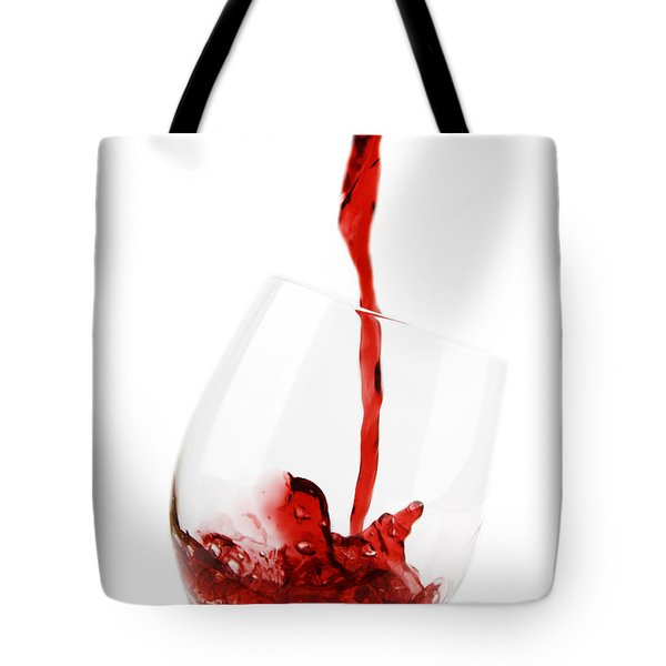 Pouring Red Wine Tote Bag by Chevy Fleet