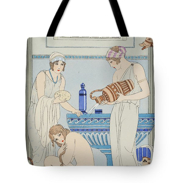 Pouring Water Over The Patient Tote Bag