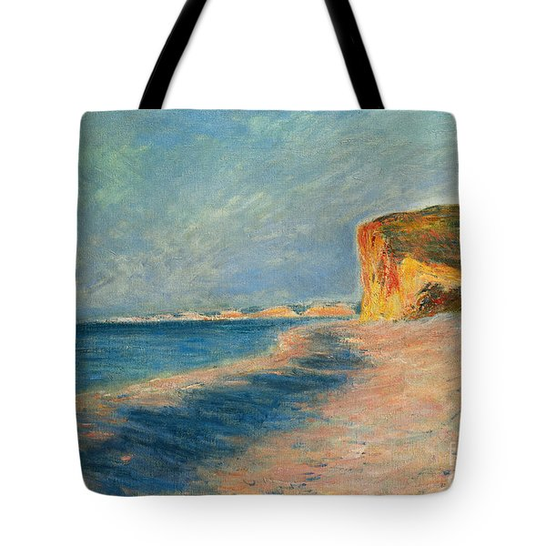 Pourville Near Dieppe Tote Bag by Claude Monet