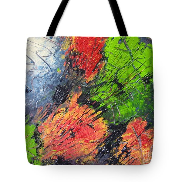 Tote Bag featuring the painting Powder And Puff by Lucy Matta