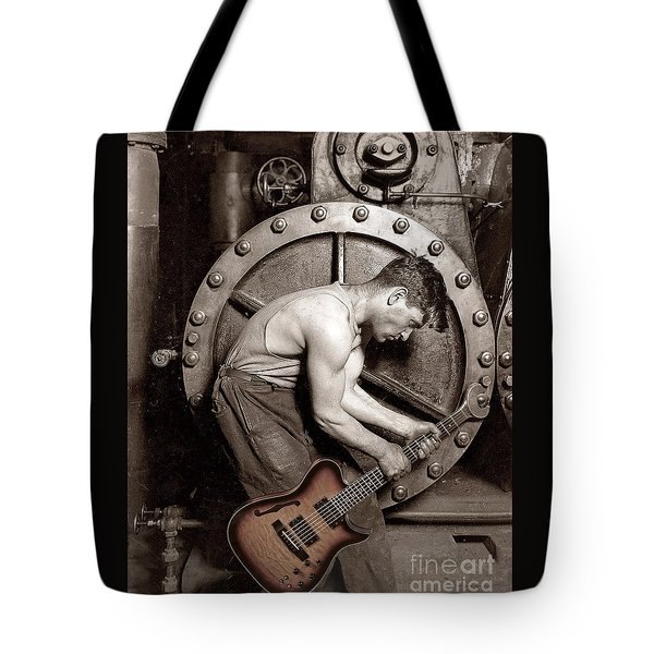 Power Chord Mechanic Tote Bag by Martin Konopacki
