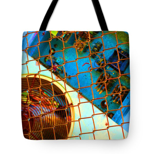 Tote Bag featuring the photograph Power Failure by Christiane Hellner-OBrien