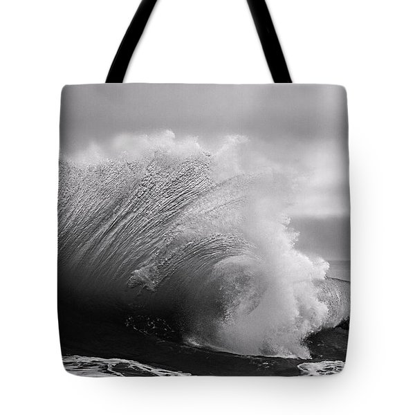 Power In The Wave Bw By Denise Dube Tote Bag