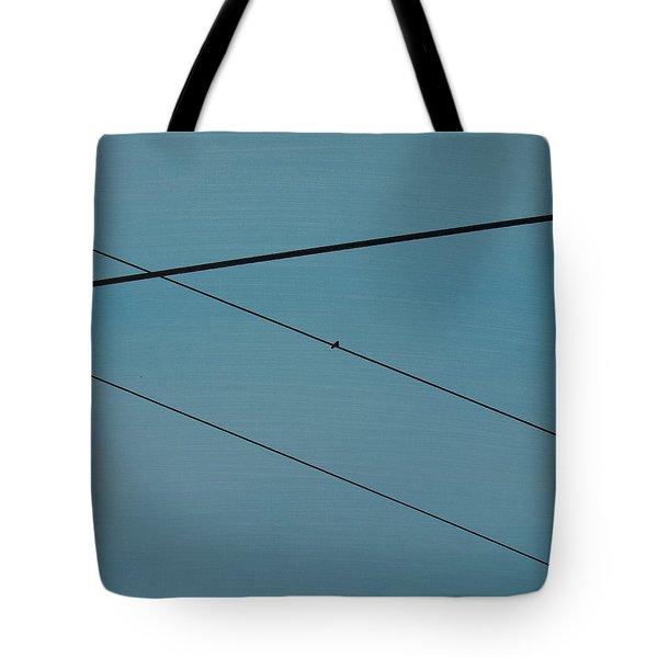 Power Lines 03 Tote Bag by Ronda Stephens