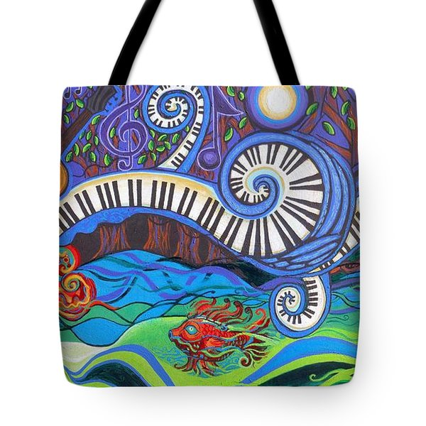 Power Of Music II  Tote Bag by Genevieve Esson
