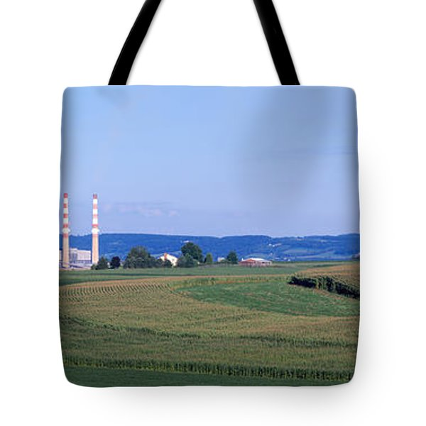 Power Plant Energy Tote Bag