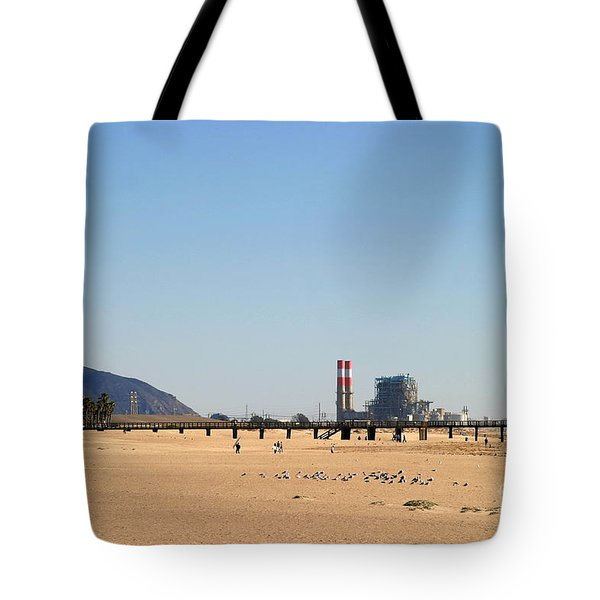Power Station Beach Tote Bag