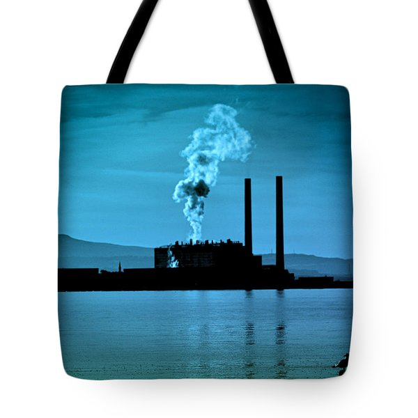 Power Station Silhouette Tote Bag