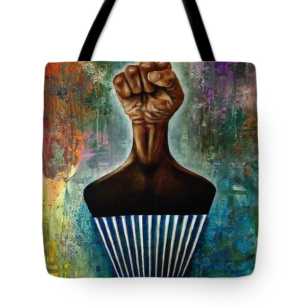 Power To The Afro Pick Tote Bag by Ka-Son Reeves
