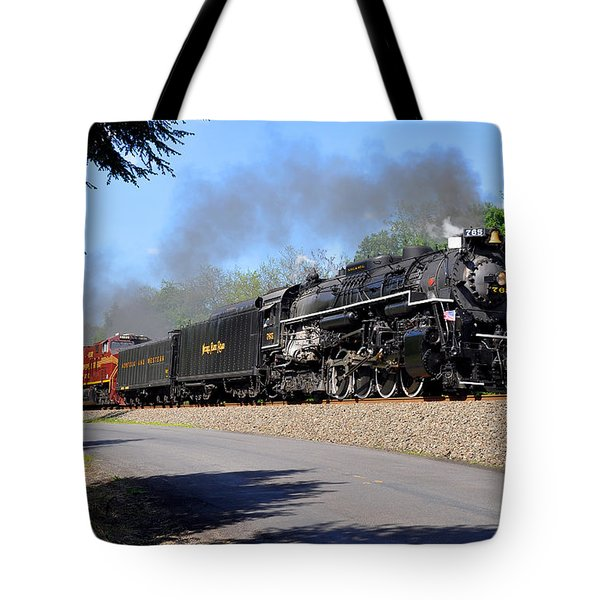 Powerful Nickel Plate Berkshire Tote Bag