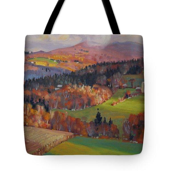 Pownel Vermont Tote Bag by Len Stomski