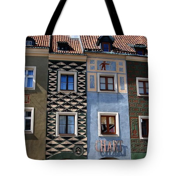 Poznan Town Houses Tote Bag by Jacqueline M Lewis