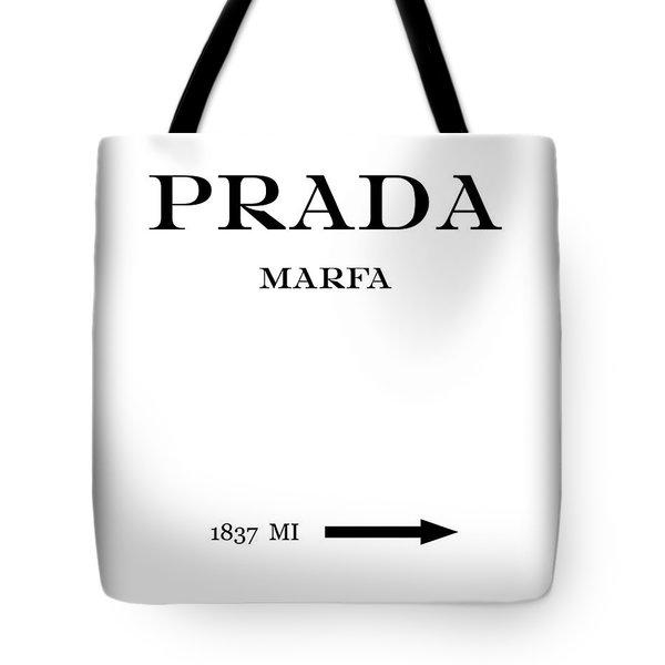 Prada Marfa 1837 Mi Mileage Distance Tote Bag