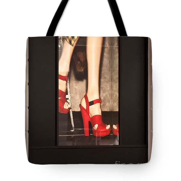 Prada Red Shoes Tote Bag