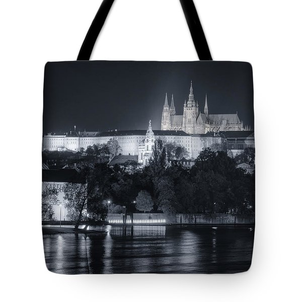 Prague Castle At Night Tote Bag