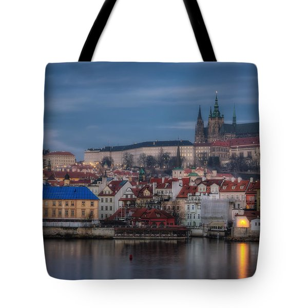 Prague Castle Dawn Tote Bag