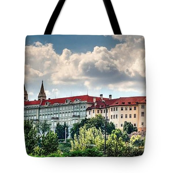 Tote Bag featuring the photograph Prague Castle by Joe  Ng