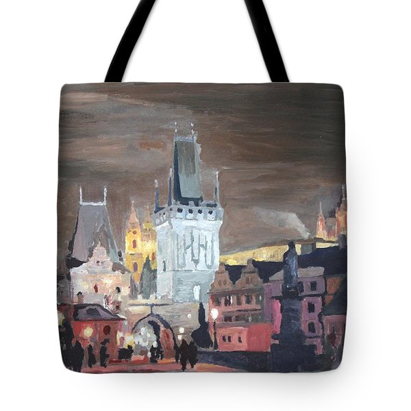 Prague Charles Bridge - Karluv Most Tote Bag by M Bleichner