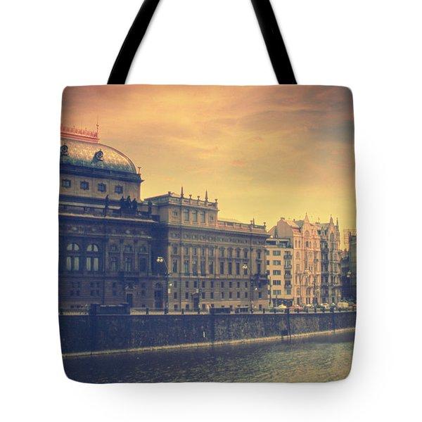 Prague Days Tote Bag by Taylan Apukovska