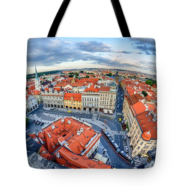 Prague From Above Tote Bag