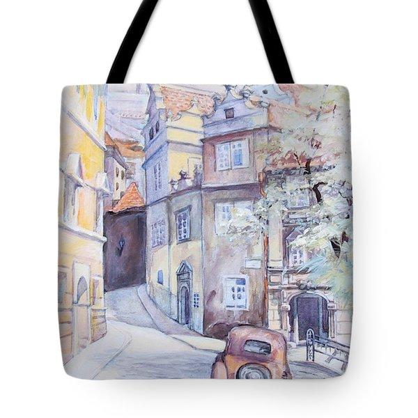Prague Golden Well Lane Tote Bag