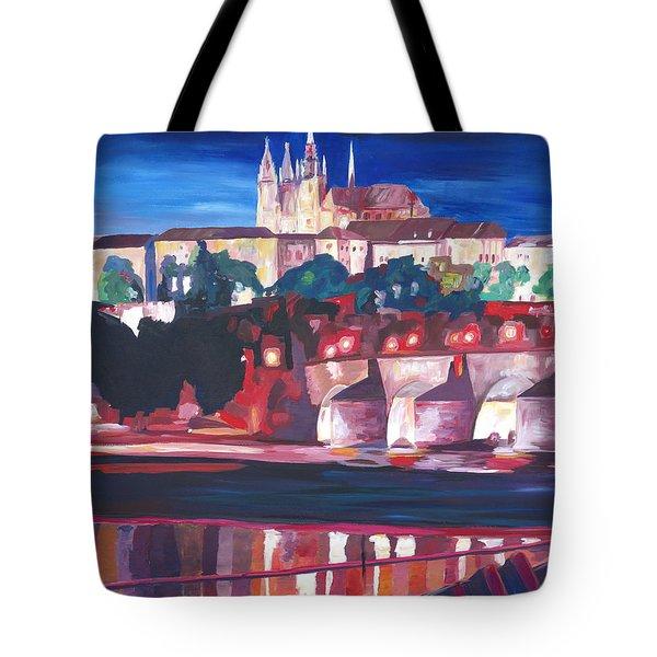 Prague - Hradschin With Charles Bridge Tote Bag by M Bleichner