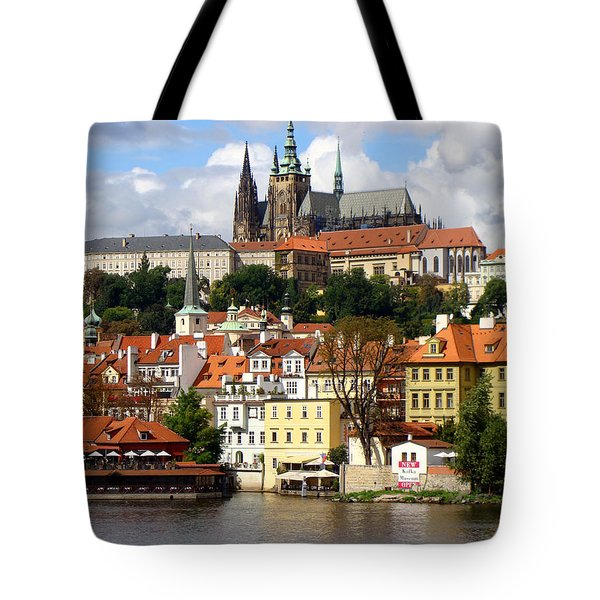 Tote Bag featuring the photograph Prague Skyline by Ira Shander