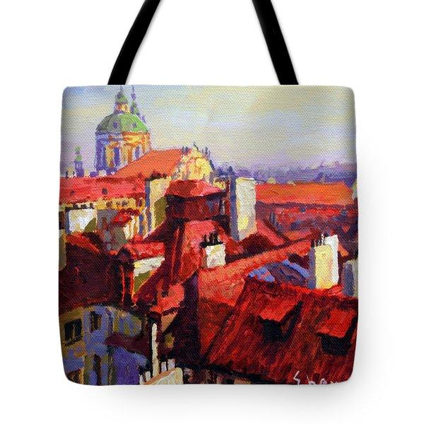 Prague Old Roofs 04 Tote Bag