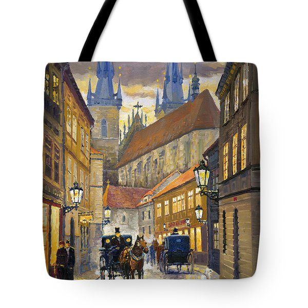 Prague Old Street Stupartska Tote Bag by Yuriy Shevchuk
