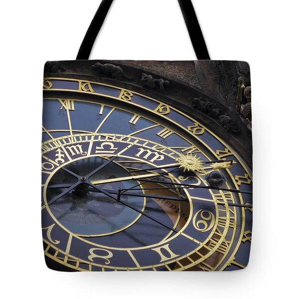 Prague Orloj Tote Bag by Adam Romanowicz