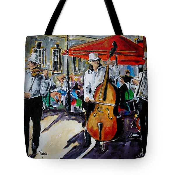 Prague Street Music II Tote Bag by Vickie Warner