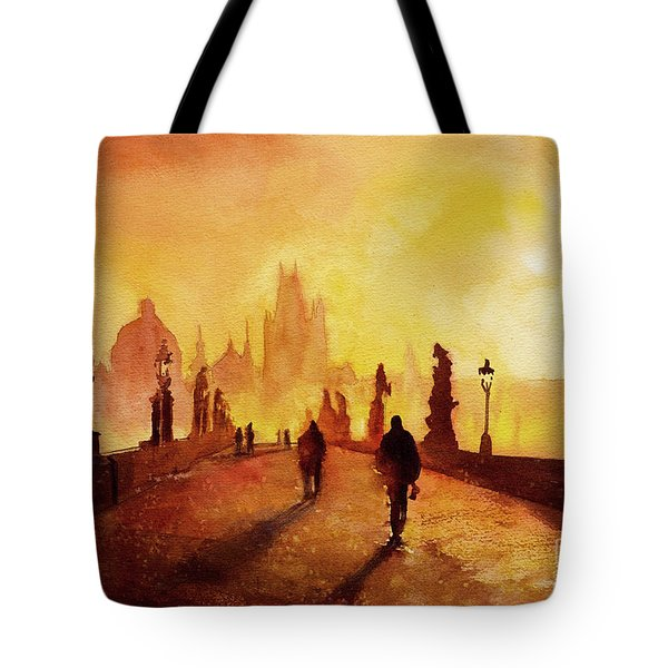 Prague Sunrise Tote Bag by Ryan Fox