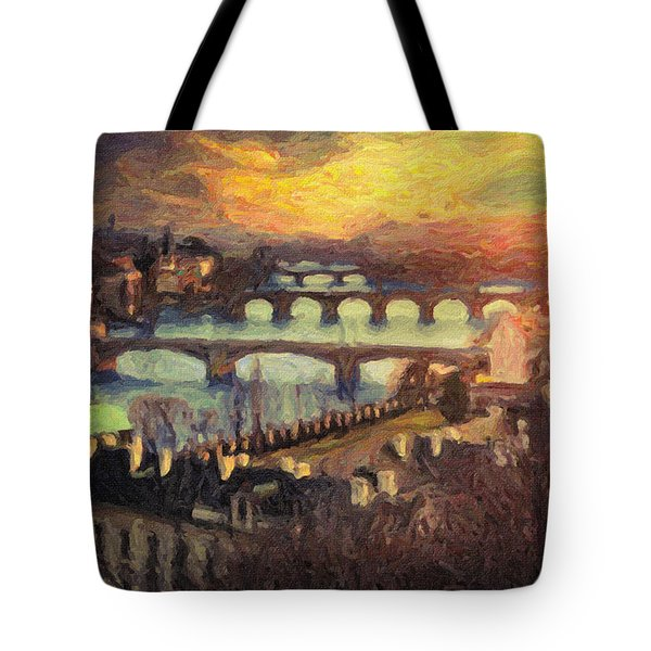 Prague Tote Bag by Taylan Apukovska