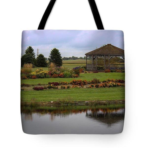 Tote Bag featuring the photograph Prairie Arboretum  by Rebecca Davis