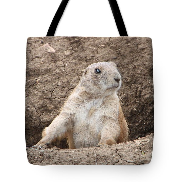 Tote Bag featuring the photograph Prairie Dog by Elizabeth Lock