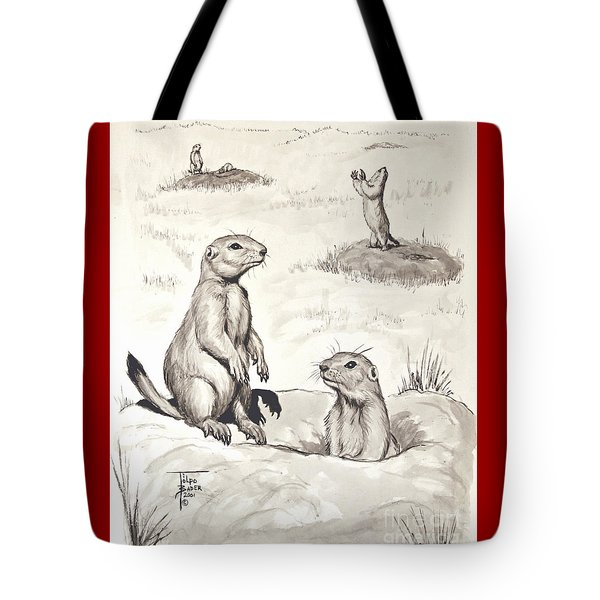 Prairie Dog Town Tote Bag