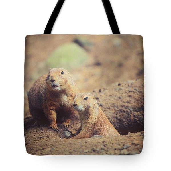 Prairie Dogs Tote Bag by Karol Livote