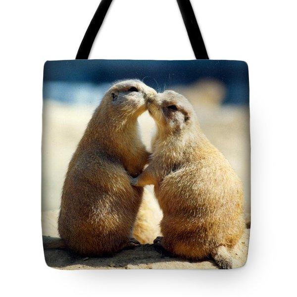 Prairie Dogs Kissing Tote Bag