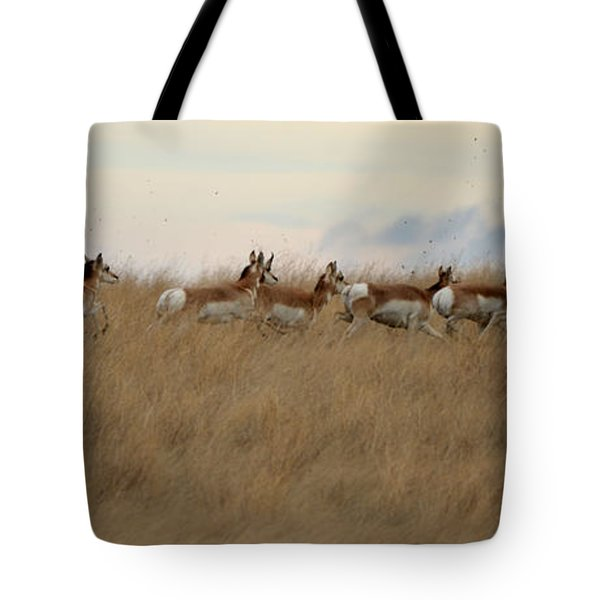 Prairie Pronghorns Tote Bag