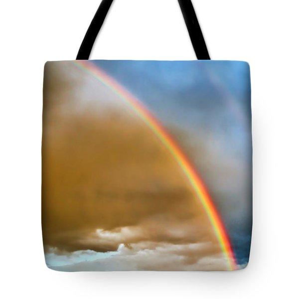 Prairie Rainbow Tote Bag by Ellen Heaverlo