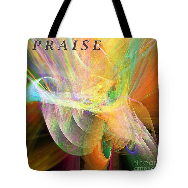 Tote Bag featuring the digital art Praise by Margie Chapman