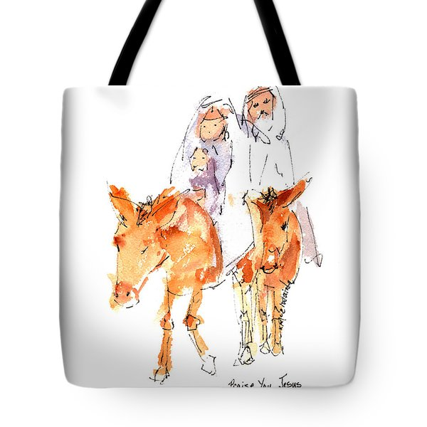 Praise You Jesus Watercolor Painting By Kmcelwaine Tote Bag