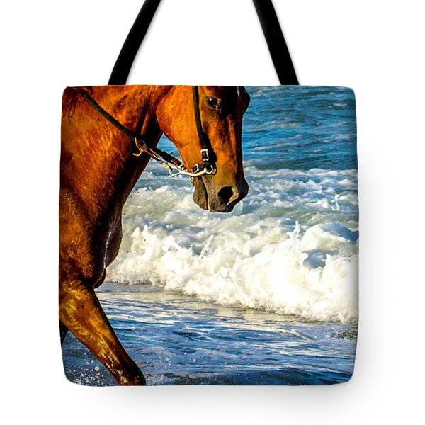 Prancing In The Sea Tote Bag by Shannon Harrington
