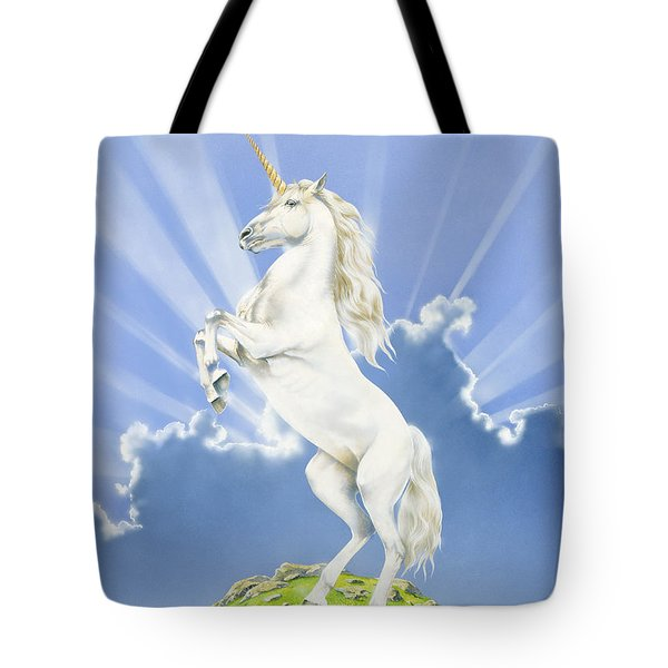 Prancing Unicorn Tote Bag by Irvine Peacock