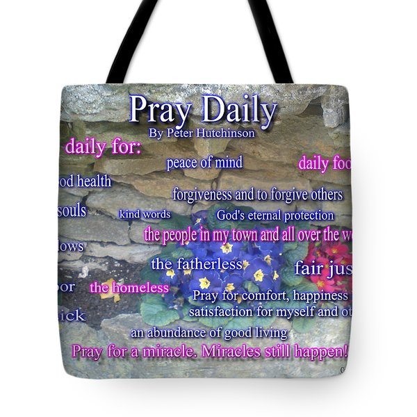 Pray Daily Tote Bag