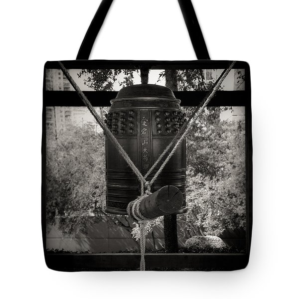 Prayer Bell Tote Bag by Darryl Dalton